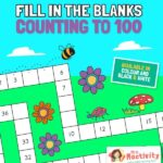 Fil in the blanks counting to 100 activity