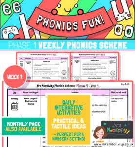Phonics Scheme - Phase 1 Week 1