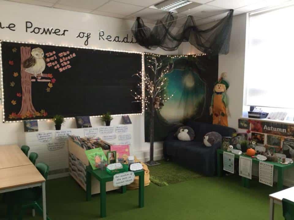 Reading corner area ideas