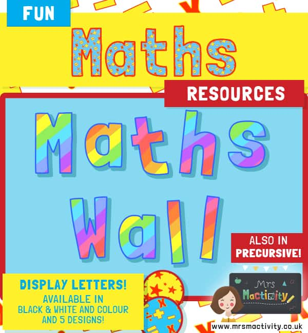 Maths lettering display sets