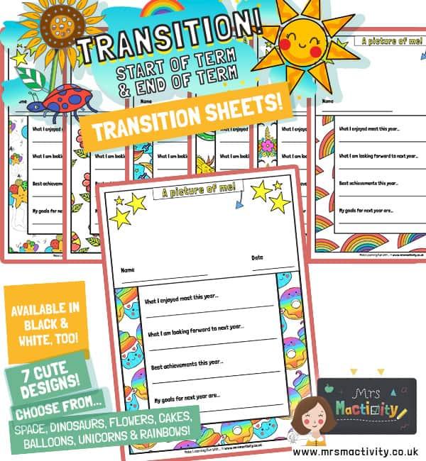 Transition worksheets