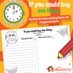 Ten Minute Filler: If You Could Buy Anything Activity Sheet