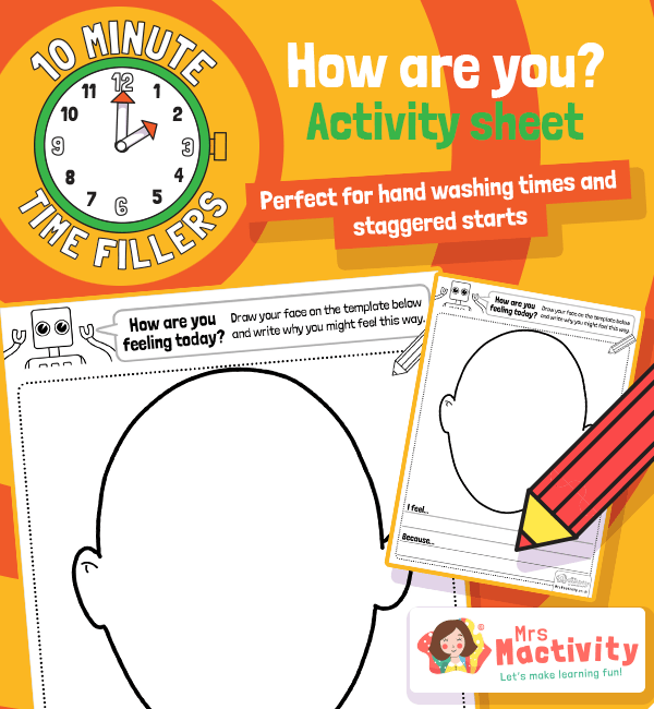 Ten Minute Filler: How Are You Feeling Activity Sheet