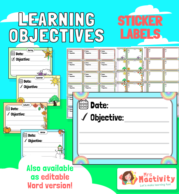 Date and learning objective labels