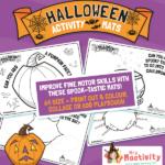 Halloween Playdough Activity Mats