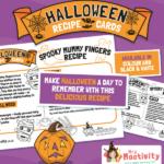Halloween Spooky Mummy Fingers Sausage Roll Recipe Card