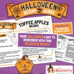 Halloween Toffee Apples Recipe Card
