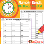Addition and Subtraction Within 10 Challenge Sheets