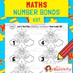 Number Bonds to 10 Rainbow Worksheet