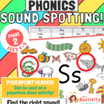 Use the tools within the powerpoint to spot the words beginning with the chosen letter. Works really well as a filler activity or as part of our phase 2 phonics lessons.