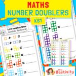 Number Tiles Doubling Worksheet
