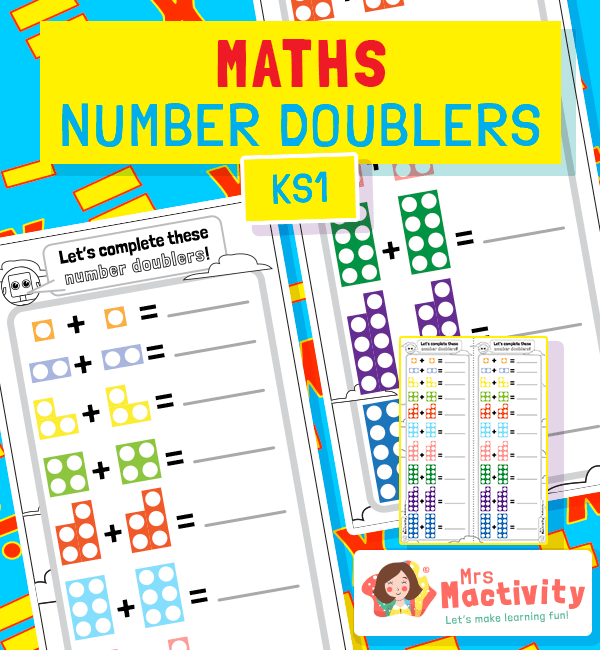 Number Tiles Doubling Worksheet