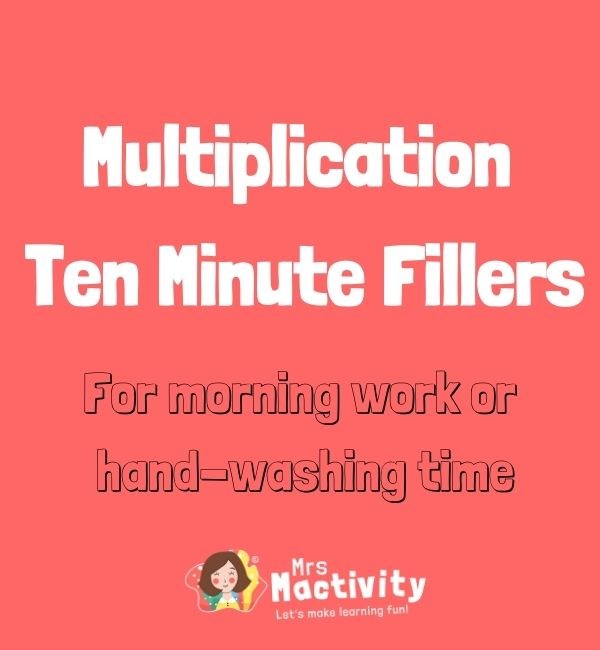 Ten Minute Fillers: Multiplication Pack