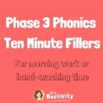 Ten Minute Fillers: Phase 3 Phonics Pack