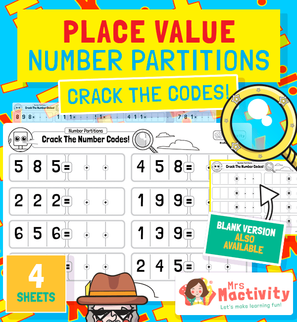 KS1 Number Partitioning Worksheet