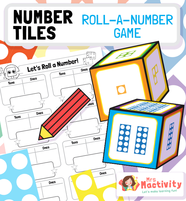 Number Tiles Roll-A-Number Place Value Game