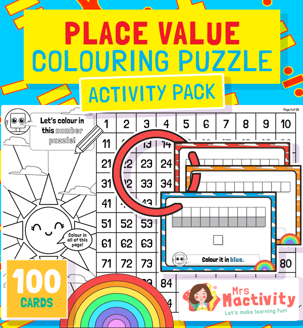 Place Value Colouring Puzzle Pack