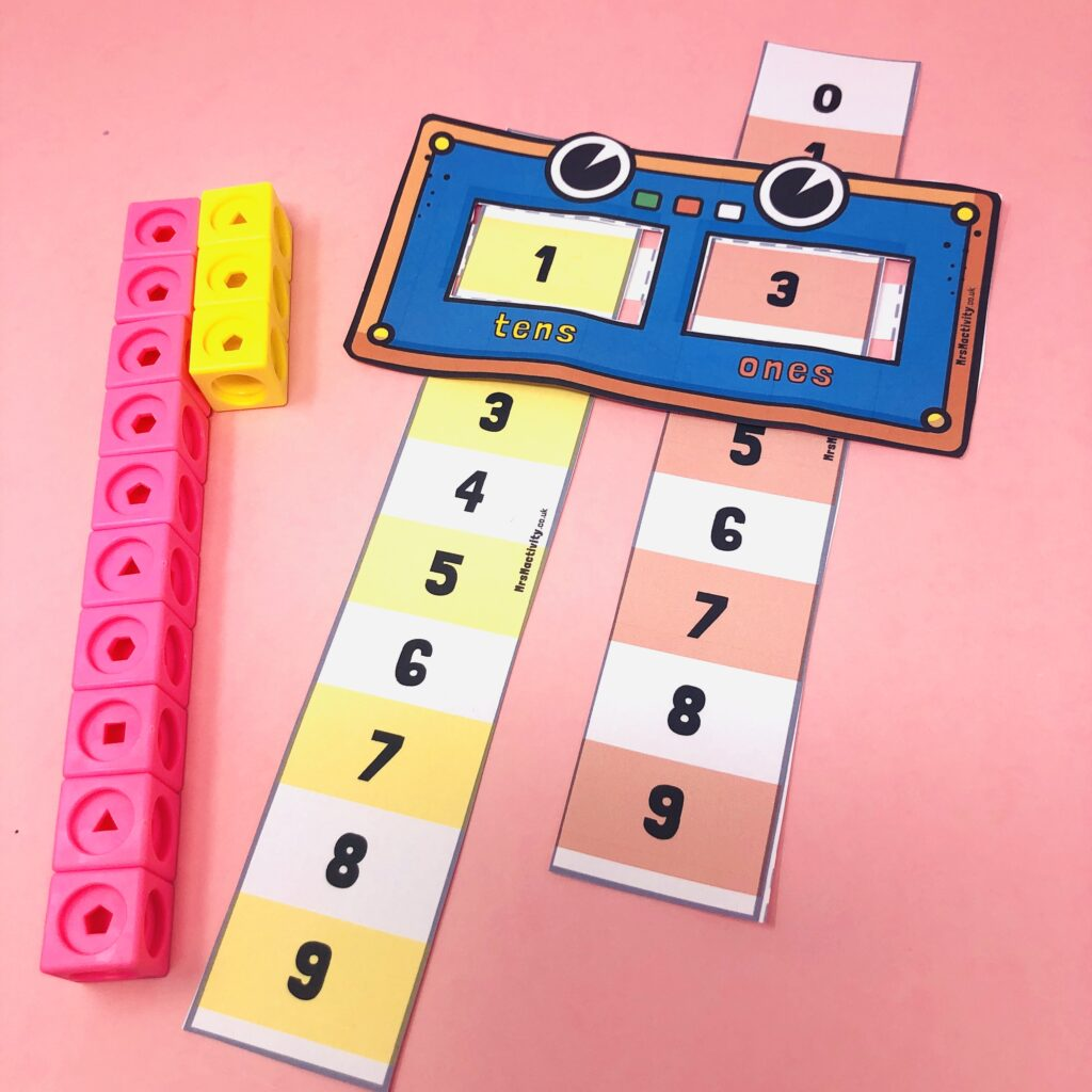 place value number robot