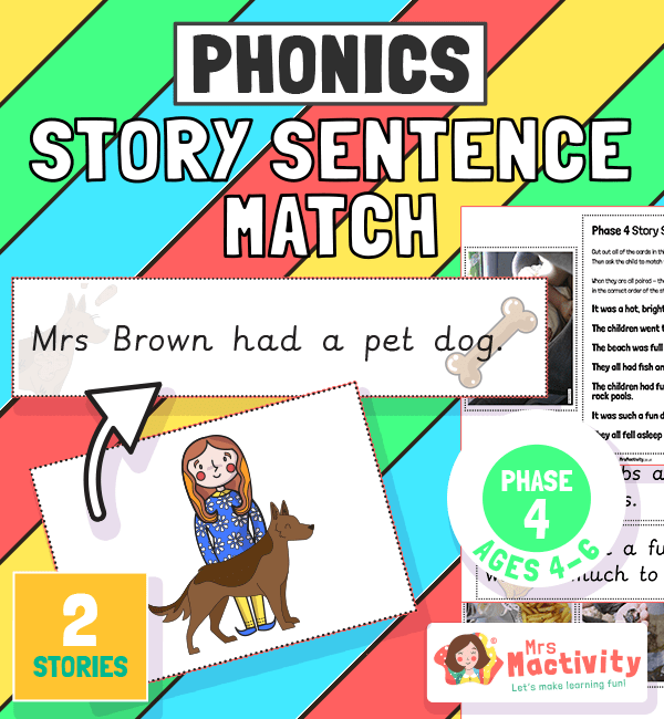 Phase 4 Story Sentence Match Activity