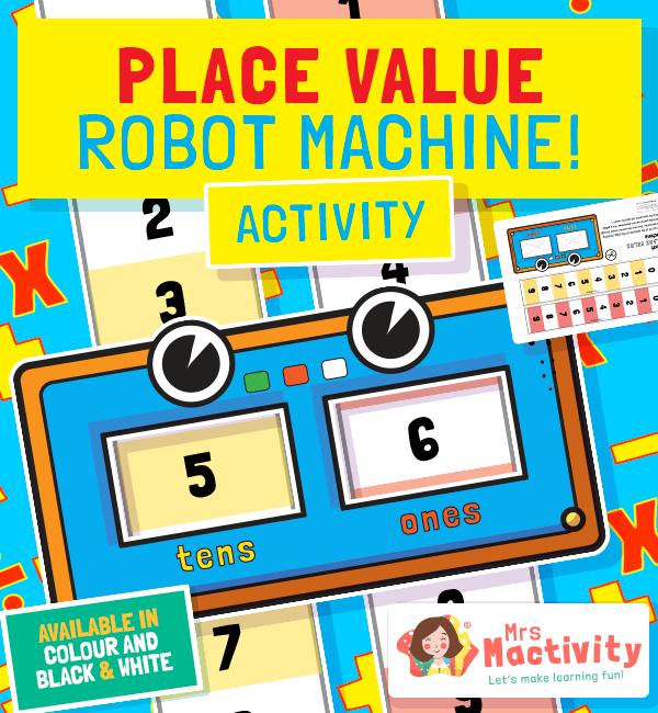 Place Value Robot Machine Activity