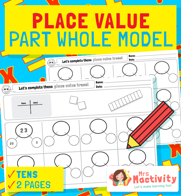 Tens and Units Part Whole Model Template