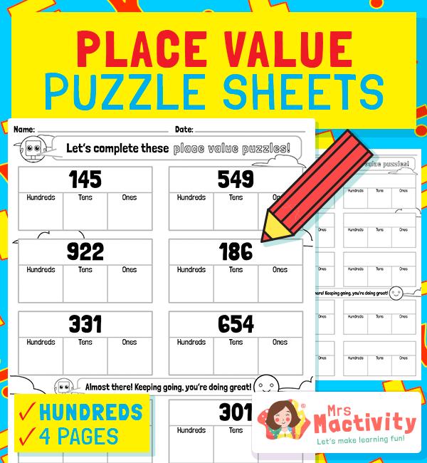 Partitioning Place Value Worksheets - Hundreds