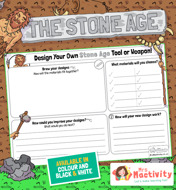 Design a Stone Age Tool Worksheet