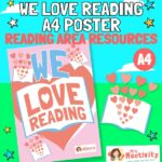 We Love Reading Display Poster