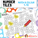 Number Tiles Match and Colour 1-10