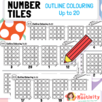 Number Tiles Colouring Activity 1-20