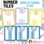 Number Tiles Display Cards 1-20