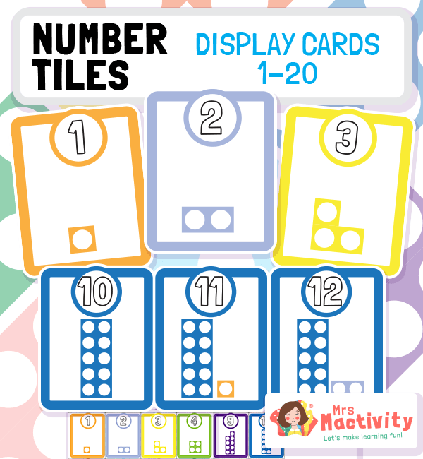 Number Tiles Display Cards 1-20