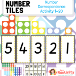 Number Tiles Number Correspondence to 20 Activity