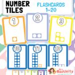 Number Tiles Flashcards 1-20