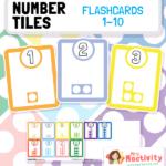 Number Tiles Flashcards 1-10