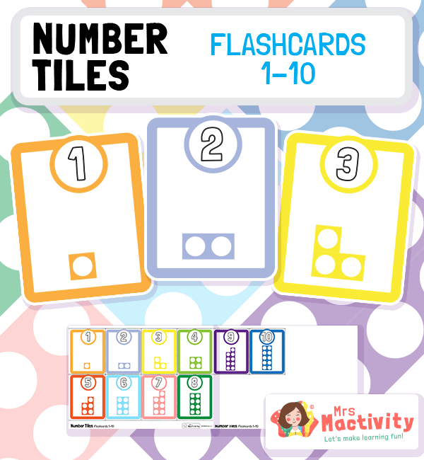 Number Tiles Flashcards 1-10