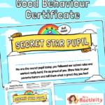 Secret Star Pupil Certificate