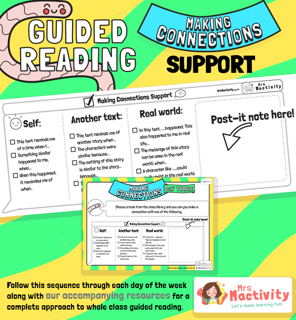 Whole Class Guided Reading Making Connections Support Activity