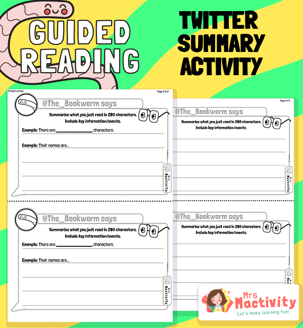 Whole Class Guided Reading Making Connections - Twitter Activity