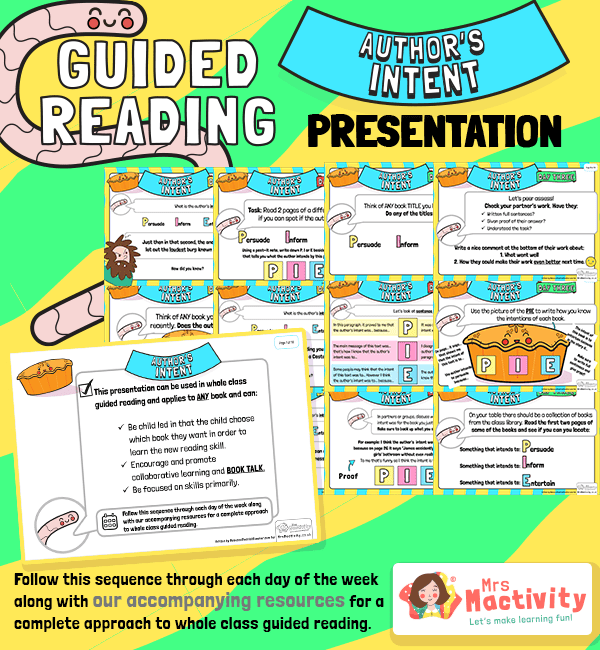 Whole Class Guided Reading Author's Intent Presentation