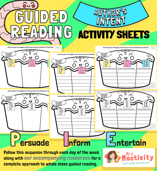Whole Class Guided Reading Differentiated Author's Intent Activity