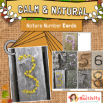 Natural Style Number Cards