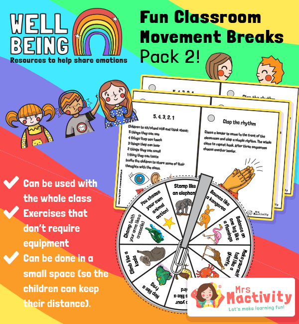 Classroom Movement Break Activities Part 2