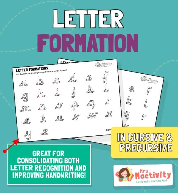 Letter Formation Practice Sheet