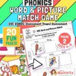 phase 2 phonics CVC word matching