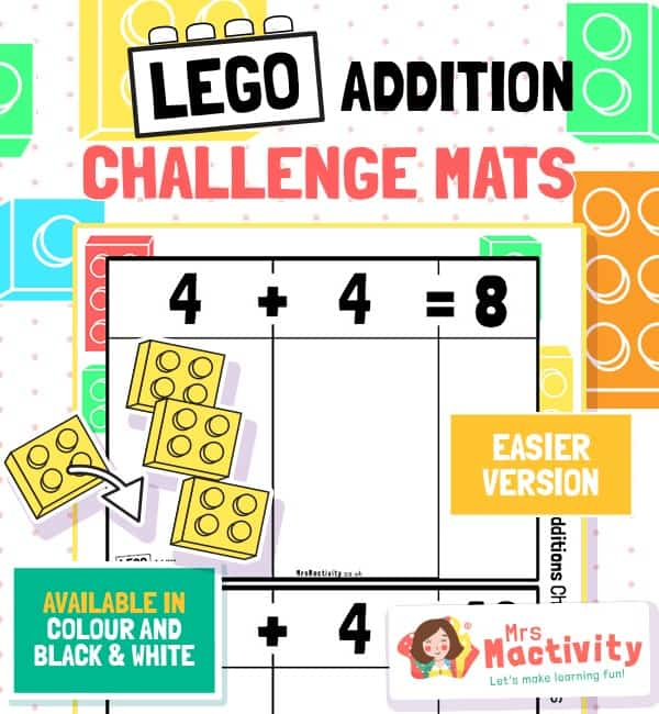 Lego Addition Challenge Mats