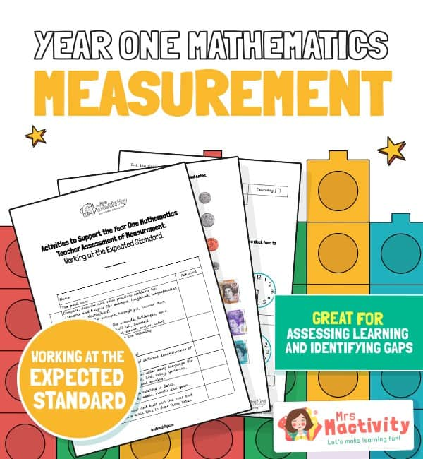 measurement year 1 maths assessment - expected