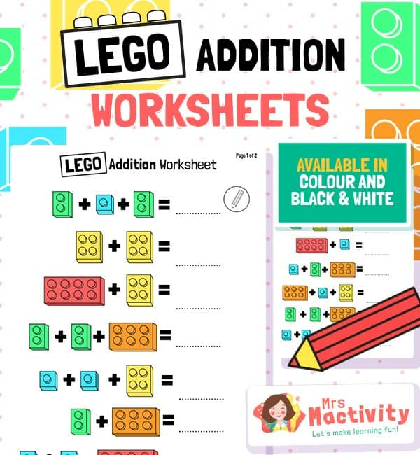 Lego Addition Worksheet