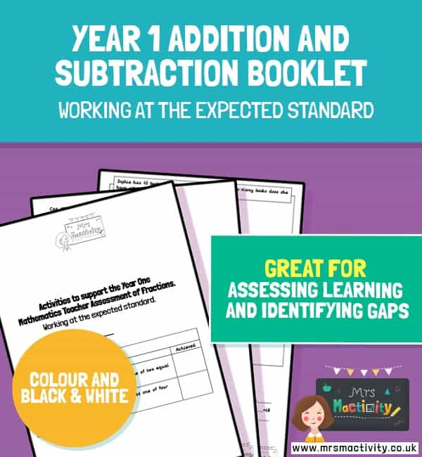Year 1 Addition and Subtraction Assessment Booklet – Expected Standard