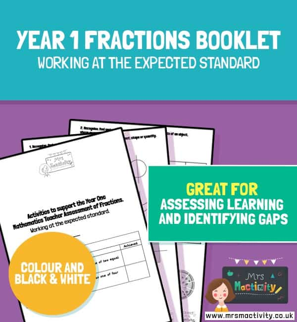 Year 1 Fractions Assessment Booklet – Expected Standard